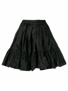 Blumarine ruffled silk skirt - Black