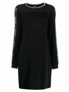 LIU JO glitter details fitted dress - Black