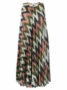 M Missoni geometric print pleated dress - Pink