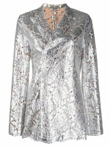 Jourden metallic-effect lace blazer