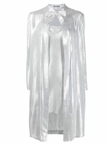 Jourden metallic-effect slip coat