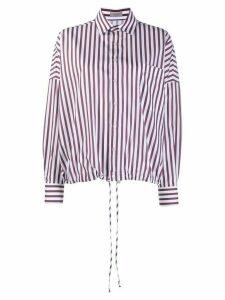 MRZ loose-fit striped shirt - White