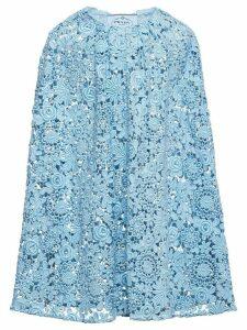 Prada Guipure lace cape - Blue