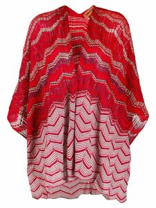 Missoni chevron-patterned loose-fit cardigan - Red