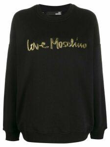 Love Moschino contrast logo sweatshirt - Black