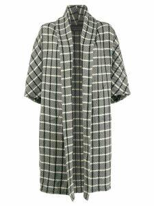 Gianluca Capannolo check pattern oversized coat - White