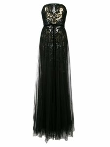 Marchesa Notte sequined tulle gown - Black