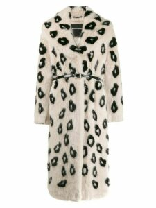 Ermanno Scervino faux fur coat - White