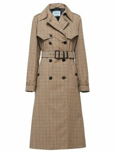 Prada Prince of Wales micro-check coat - Neutrals
