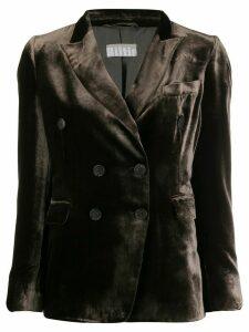 Kiltie peaked lapel blazer - Brown