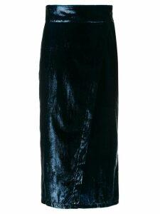 L'Autre Chose velvet midi skirt - Blue