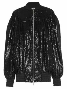 Miu Miu sequinned bomber jacket - Black