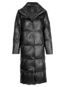 Lth Jkt Glo long puffer jacket - Black
