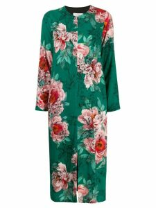 SO ALLURE floral long-sleeve dress - Green