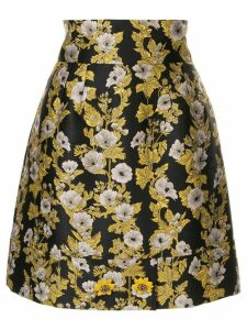Dolce & Gabbana floral patterned high-waisted skirt - Black