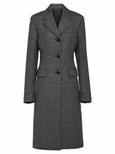 Prada single-breasted mid-length coat - Grey