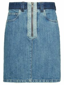 Miu Miu Denim patch skirt - Blue