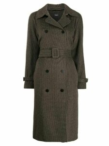 Theory belted double-breasted coat - Brown