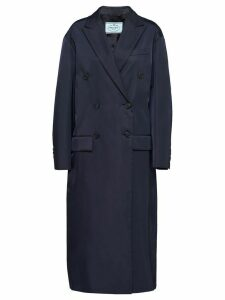 Prada nylon gabardine coat - Blue