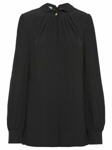 Prada gathered details blouse - Black