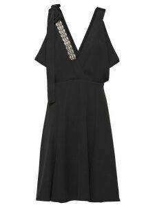 Prada technical broadcloth dress - Black