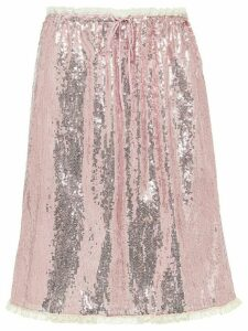 Miu Miu sequinned A-line skirt - Pink