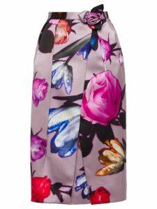 Prada printed floral pencil skirt - Pink
