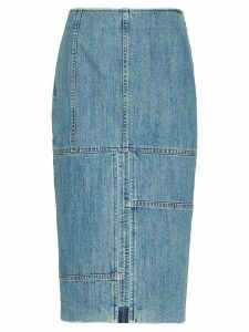 Miu Miu distressed denim skirt - Blue