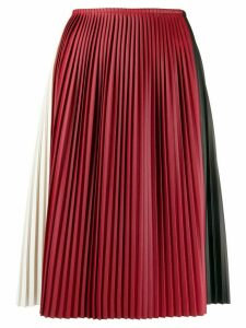 Plan C colour-block pleated skirt - Red