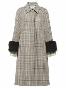 Prada Prince of Wales checked coat - Neutrals