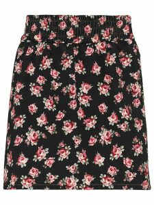 Miu Miu rose-print skirt - Black