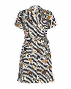Yumi Curves Animal Print Shirt Dress