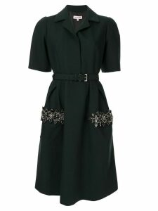 Dice Kayek bead embellished shirt dress - Green