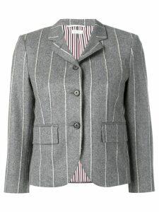 Thom Browne Shadow Stripe Flannel Sport Coat - Grey