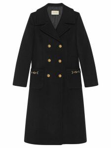 Gucci double-breasted mid-length coat - Black