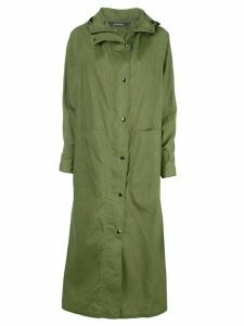 Kassl Editions single breasted rain coat - Green