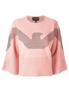 Emporio Armani blended logo sweater - Pink