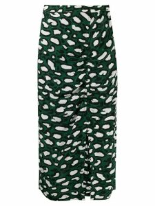 Essentiel Antwerp thrasher midi skirt - Green