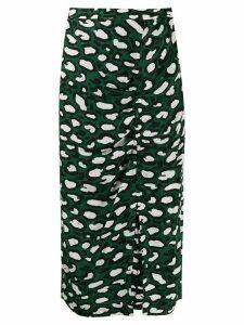 Essentiel Antwerp thrasher midi skirt - Green