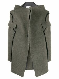 Maison Margiela deconstructed single-breasted coat - Grey