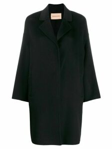 Yves Salomon cashmere egg-shape coat - Black