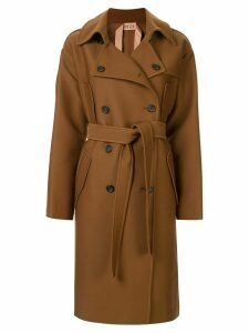 Nº21 oversized double-breasted trench coat - Brown