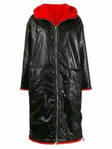 STAND STUDIO oversized reversible coat - Black