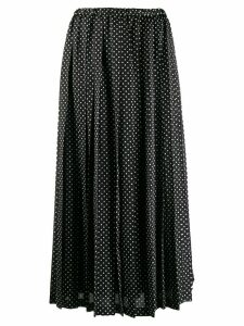 Junya Watanabe polka-dot pleated skirt - Black