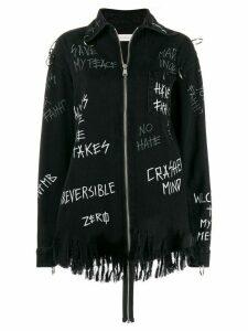 Faith Connexion graffiti print jacket - Black