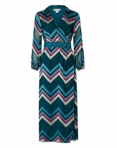 Monsoon Fearne Chevron Maxi Dress