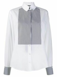 Dolce & Gabbana striped bib long sleeve shirt - White