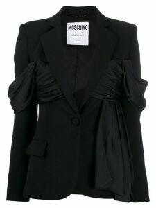 Moschino ruffle detail blazer - Black