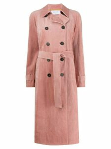 Harris Wharf London double-breasted corduroy coat - Pink