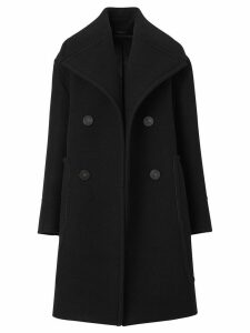 Burberry Wool Oversized Pea Coat - Black